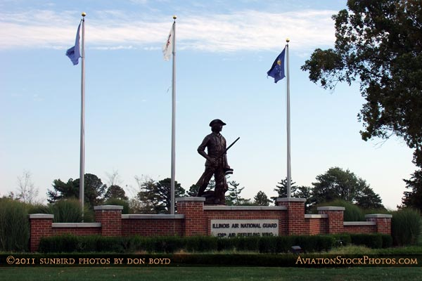 The entrance to the Illinois Air National Guard section at Scott AFB, home of the 126th Air Refueling Wing