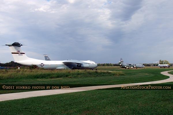 The Scott Field Heritage Air Park at Scott AFB aviation stock photo