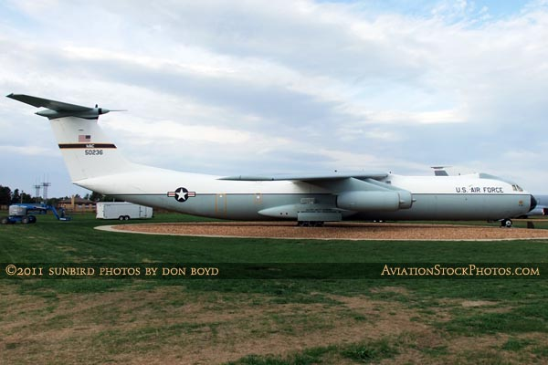USAF Lockheed C-141B Starlifter #65-0236 at Scott Field Heritage Air Park aviation stock photo