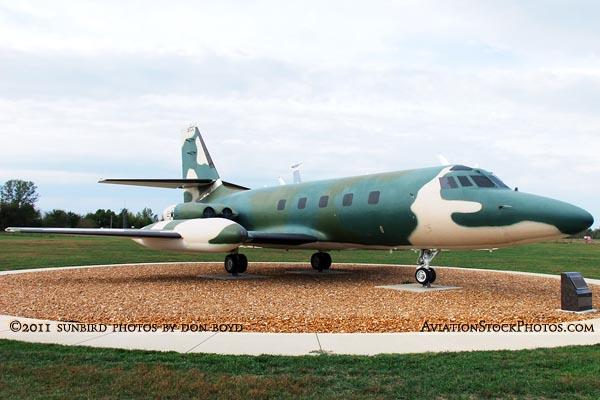 USAF Lockheed C-140A Jetstar #59-5959 at the Scott Field Heritage Air Park aviation stock photo