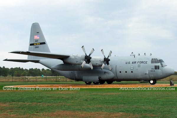 USAF Lockheed C-130E-LM Hercules #62-1862 at Scott Field Heritage Air Park aviation stock photo