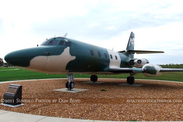 USAF Lockheed C-140A Jetstar #59-5959 on display at Scott Field Heritage Air Park aviation stock photo