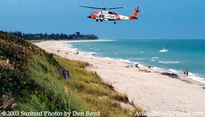 2003 - USCG HH-60J #CG-6041 at Jupiter Island - Coast Guard fantasy stock photo