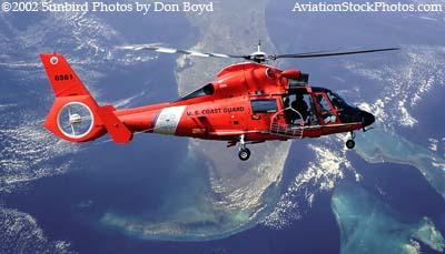 2002 - USCG HH-65A #CG-6561 over Florida - Coast Guard fantasy stock photo