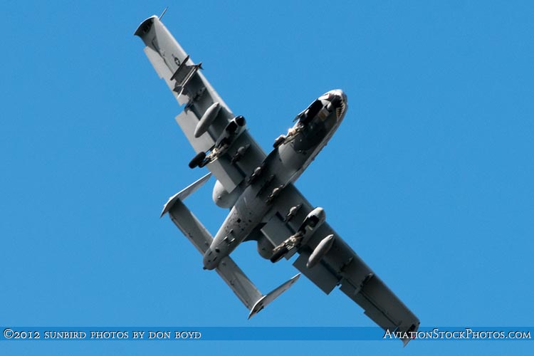 2012 - USAF A-10 Warthog on short final approach to Opa-locka Executive Airport military aviation aircraft stock photo #2207
