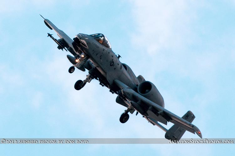 2012 - USAF A-10 Warthog on short final approach to Opa-locka Executive Airport military aviation aircraft stock photo #2211