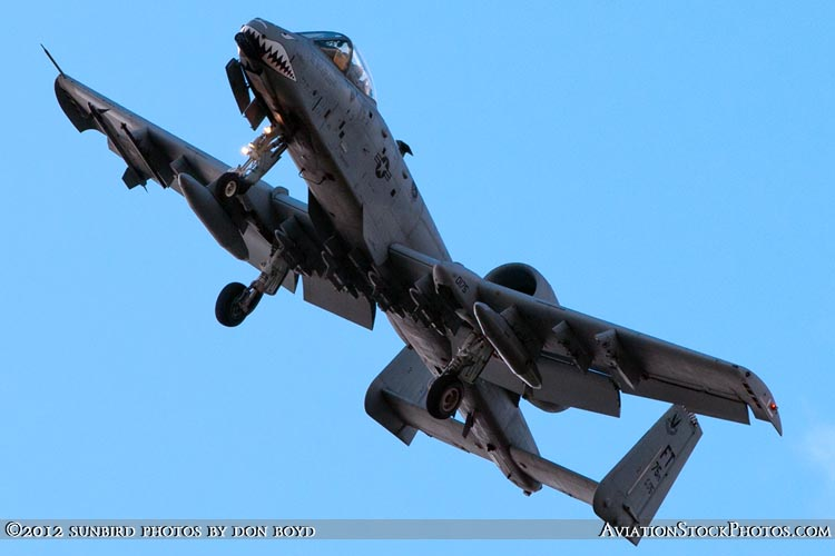 2012 - USAF A-10 Warthog on short final approach to Opa-locka Executive Airport military aviation aircraft stock photo #22