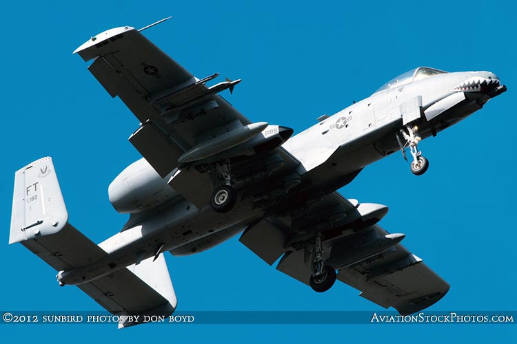 2012 - USAF A-10 Warthog #AF79-0189 on short final approach to OPF military aviation aircraft stock photo #2221