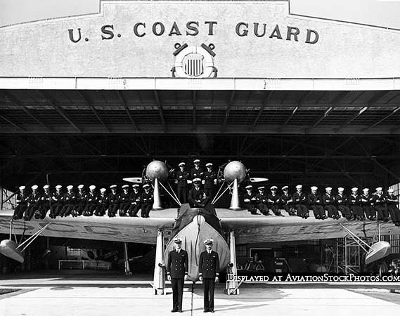 1935 - general muster at Coast Guard Air Station Dinner Key at Cocoanut Grove, Miami