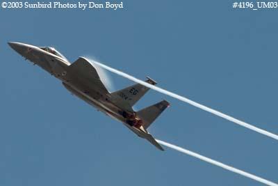 USAF F-15C-27-MC Eagle AF80-024 military aviation air show stock photo #4196