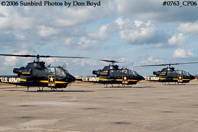 Army Aviation Heritage Foundations Sky Soldiers Bell AH-1 Cobras air show stock photo #0763