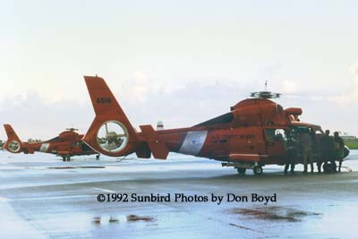 1992 - Coast Guard operations after Hurricane Andrew - HH-65s CG-6547 and CG-6516