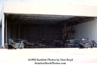 1992 - US Army Chinooks and personnel using former Eastern L1011 hangar for Hurricane Andrew relief operations