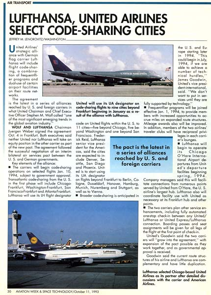 1993 - Aviation Week & Space Technology (top photo)