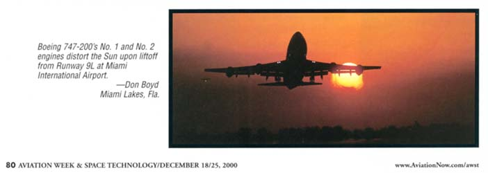 2000 - Aviation Week & Space Technology Annual Photo Contest Issue