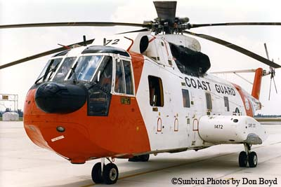 Late 80s - USCG Sikorsky HH-3F Pelican #CG-1472 from Coast Guard Air Station Cape Cod