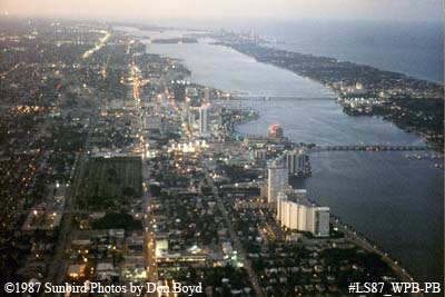 1987 - USCG Station Lake Worth Inlet on Peanut Island (top), West Palm Beach (left) and Palm Beach (right)