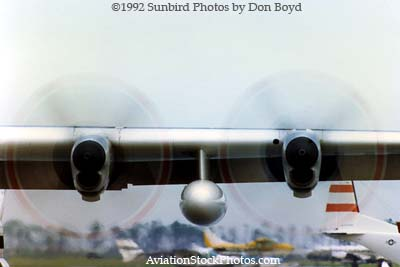 1992 - Coast Guard operations after Hurricane Andrew - HC-130H props and tail of leased CASA-212