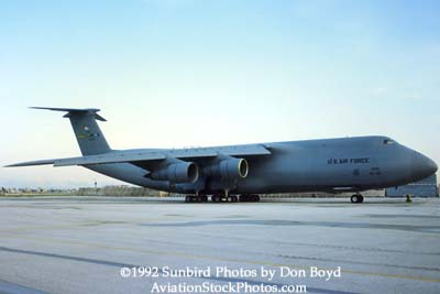 1992 - USAF C-5A Galaxy parked on the former Eastern maintenance base at Miami International Airport