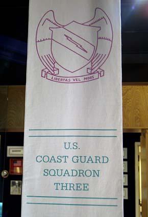 2007 - U. S. Coast Guard Squadron Three banner at the Vietnam Veterans National Memorial, stock photo #1712