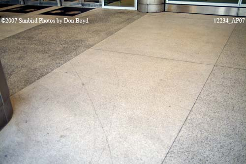 2007 - scratched stone walkway at the new South Terminal at Miami International Airport aviation stock photo #2234