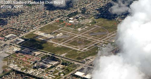 2007 - North Perry Airport, Broward County landscape aerial stock photo #2100