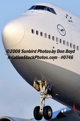 2008 - Lufthansa B747-430 D-ABVR airline aviation stock photo #0746