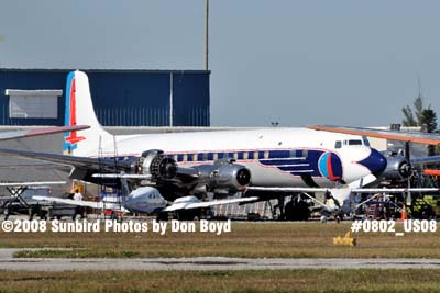 2008 - Legendary Airliners (ex-Eastern) DC-7B N836D aviation aircraft stock photo #0802