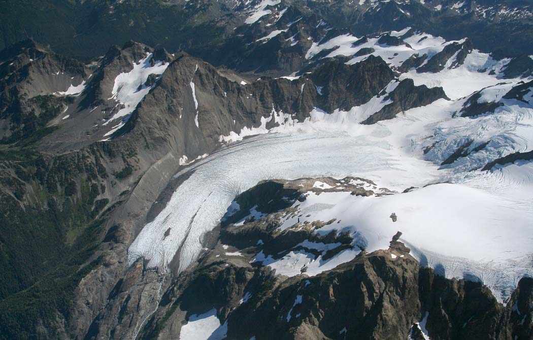Blue Glacier & Snow Dome (R), View SE <br> (OlympicNP091307-26.jpg)