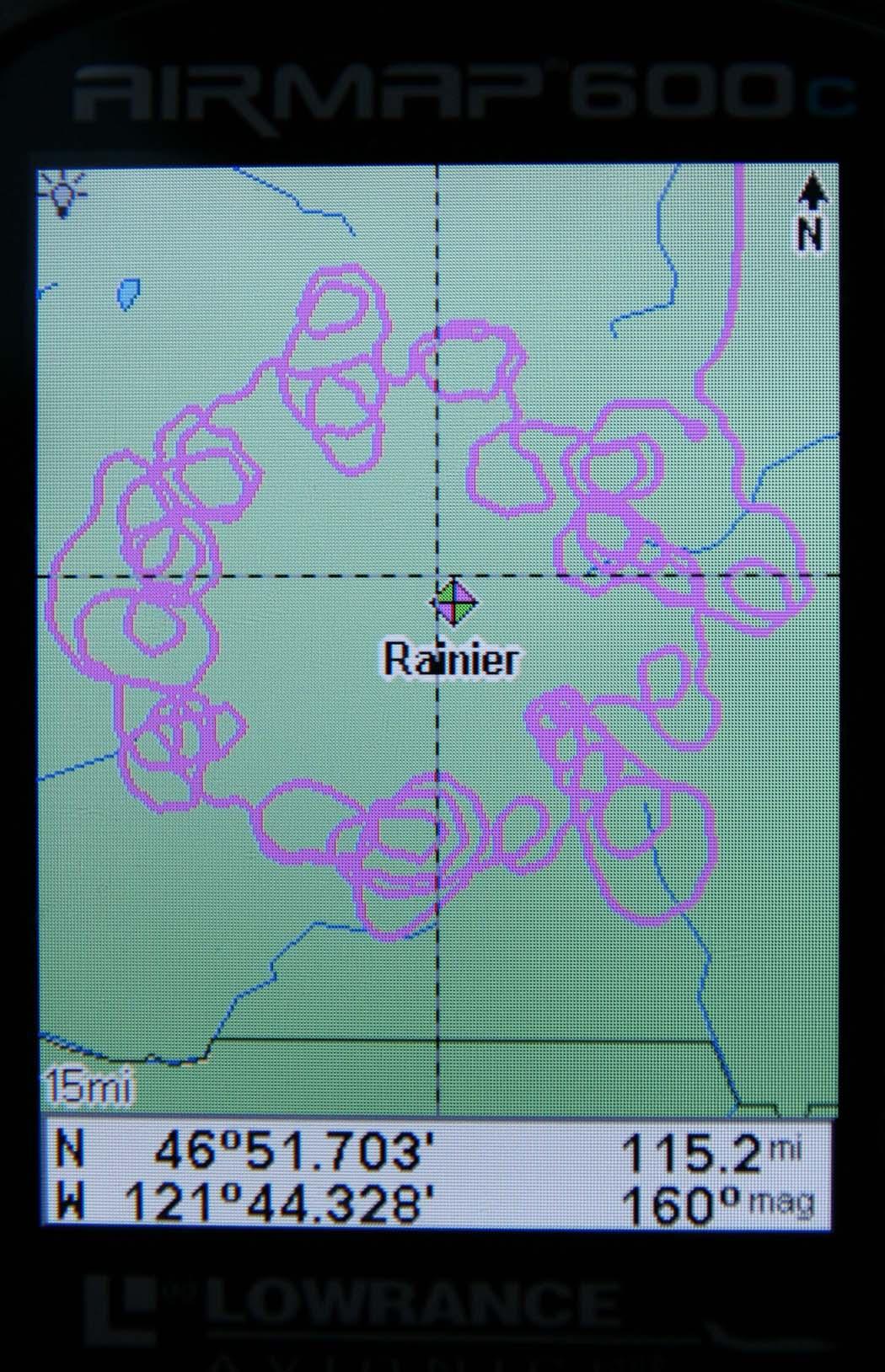 GPS Track:  Mt. Rainier Glaciers <br> (GPSRainier092407-_1.jpg)