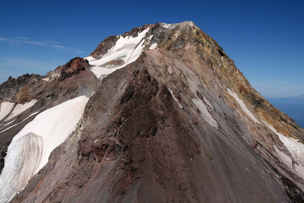 Hood, Upper White River Glacier & SE Face <br> (Hood082407-_077.jpg)