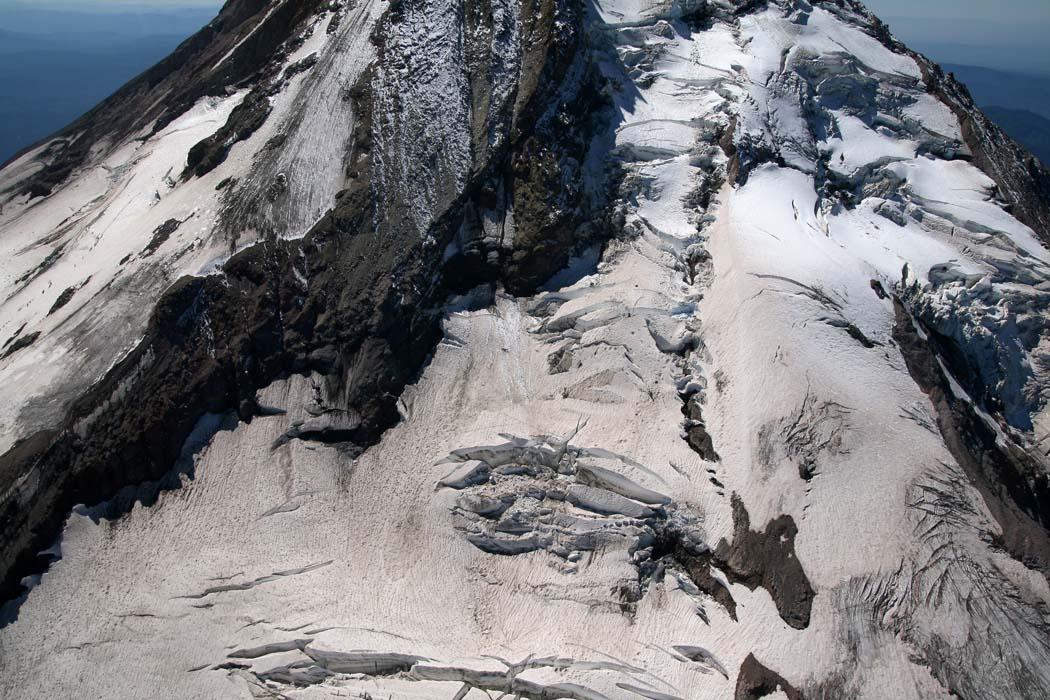 Hood, Upper Eliot Glacier/Headwall Detail <br> (Hood082407-_103.jpg)
