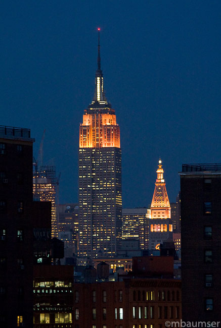 Empire State on Blue