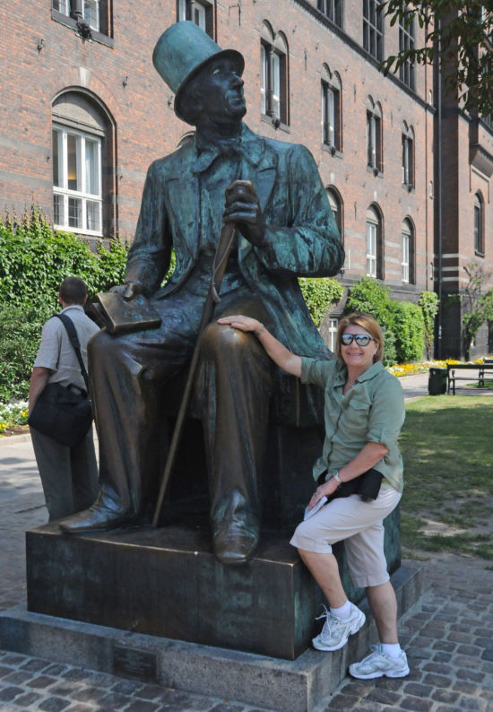 Brenda with Hans Christian Anderson