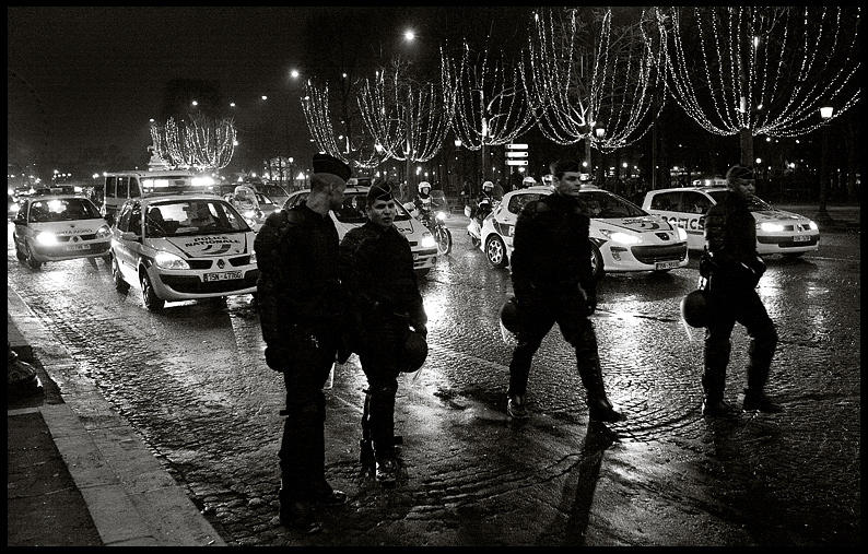 New Year On The Champs Elysées