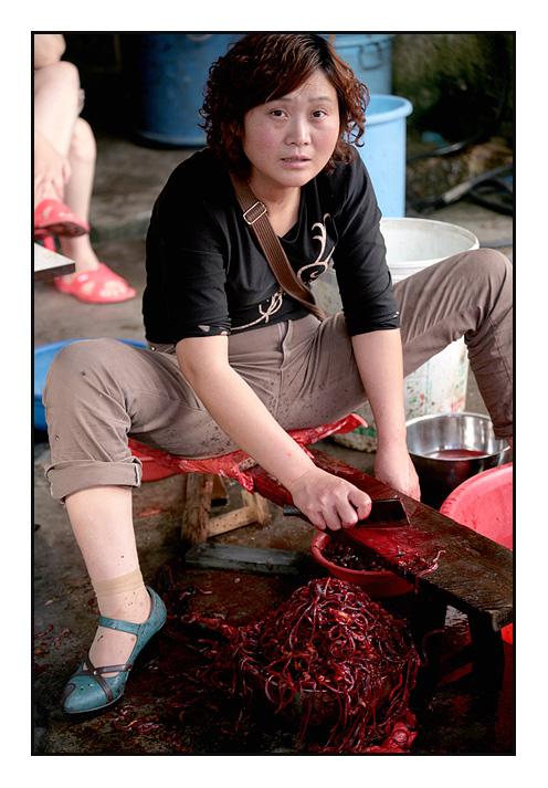 Street Market - Skinning Eels
