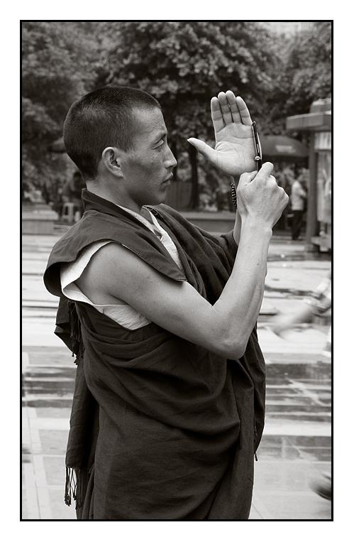 Tibetan Photo Monk Tourist