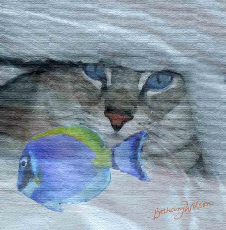 Pogo dreams of fishies