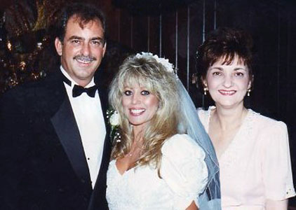 1996 - Fran with her brother Garry and his wife Marina Melfa