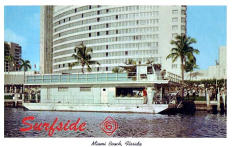 Early 1960s - the Surfside 6 houseboat on Indian Creek, Miami Beach