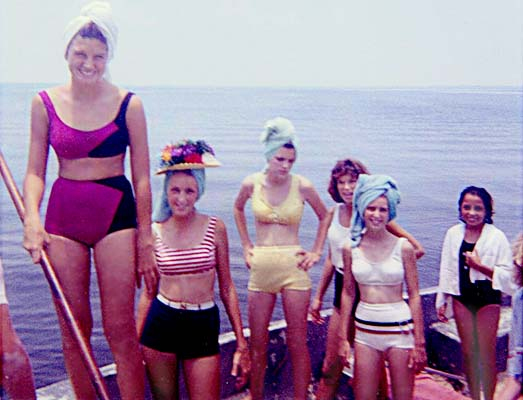 1963 - Linda Manson, Betty Warren, Debbie Johns, Gloria Wolfe, Linda High and Sandys friend Laura on a boat