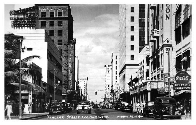 1940s - Flagler Street looking west