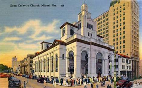 1940s - Gesu Catholic Church, downtown Miami