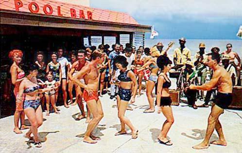 1960 S Beach Dancing At The Castaways Hotel Sunny Isles Photo