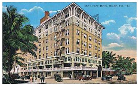 1940s - the Urmey Hotel in downtown Miami