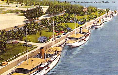 1920s - yachts at the downtown yacht anchorage