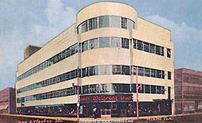 1930s - Walgreens Drug Store on East Flagler Street, downtown Miami