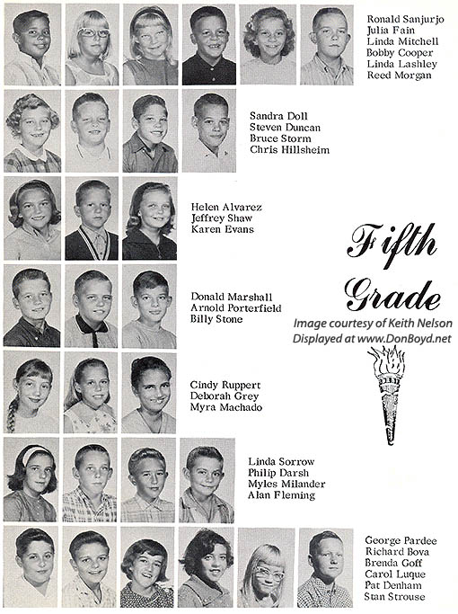1964 - 5th grade class at Dr. John G. DuPuis Elementary School - page 2