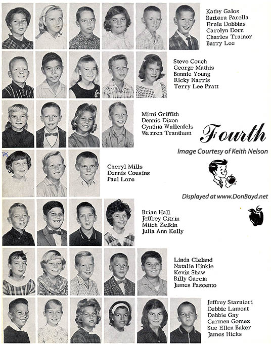 1964 - 4th grade class at Dr. John G. DuPuis Elementary School - page 3