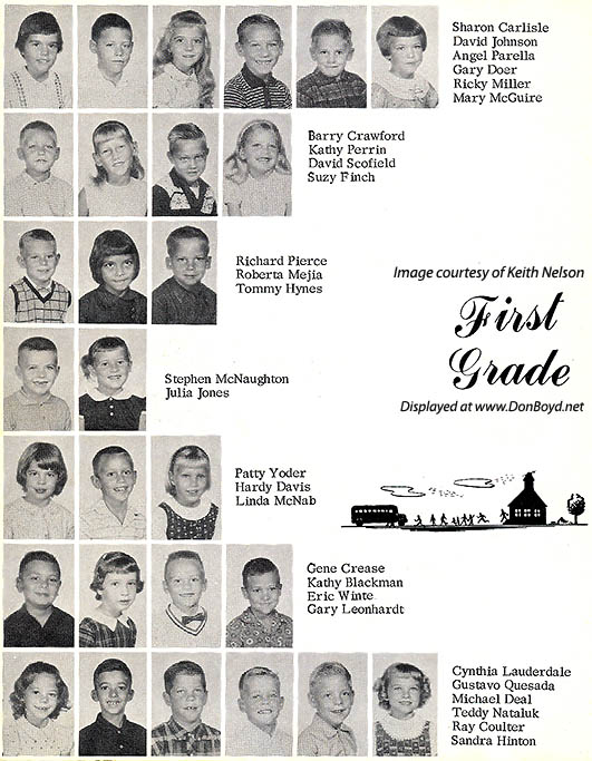 1964 - 1st grade class at Dr. John G. DuPuis Elementary School - page 1